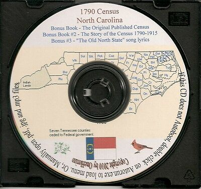 1790 Census CD - North Carolina