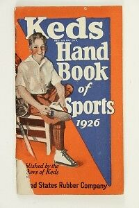 Vintage Advertising Paper 1926 KEDS Hand Book Of Sports US Rubber Company
