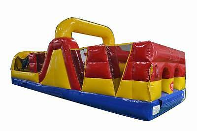 Commercial Inflatable 30' Obstacle Course Slide Rock Wall Bounce House Jump FS