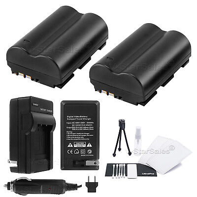 BP-511 Battery x2 + Charger for Canon PowerShot G1 G2 G3 G5 G6 Pro1 Pro90