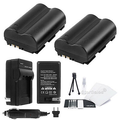 BP-511A Battery x2 + Charger for Canon EOS 10D 1D 5D 20D 30D 50D 300D D30 D60