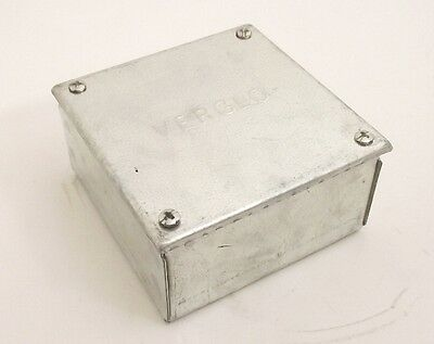 30x Galvanised Adaptable Steel Box Electrical Enclosure 100x 100 x 50mm = 4x4x2""