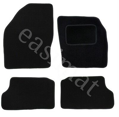 Ford Focus MK2 2005-2011 Tailored Black Carpet Car Mats 4pc Floor Mat Set