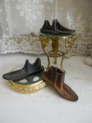 OMG! Set of 3 ANTIQUE Cobblers/Shoemaker Cast Iron Childs Shoe Molds~Great Decor