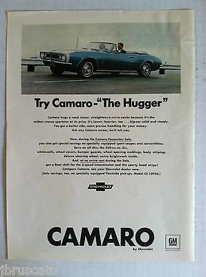 1967 Chevy Camaro - The Hugger - Original Gm Ad