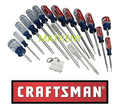 Caftsman 17 pc Screwdriver Set Phillips Slotted Butyrate Handle USA 31794 NEW