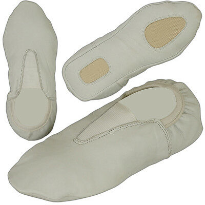 Rubber Sole Gymnastic Shoes Goat Leather Gymnastics Shoe Adult & Kids size White