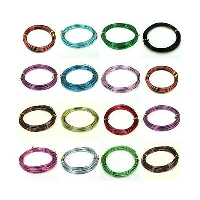 1 x 6 Metre Roll of 2mm Aluminium Craft Floristry Wire Jewellery PICK COLOUR ML
