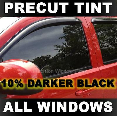 Precut Window Tint for Nissan Frontier Crew Cab 00-2004 - 10% Darker Black Film