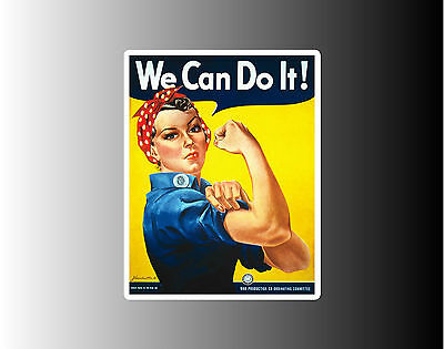 Rosie The Riveter We Can Do It!  - Two Sizes To Choose From Bumper Sticker Decal