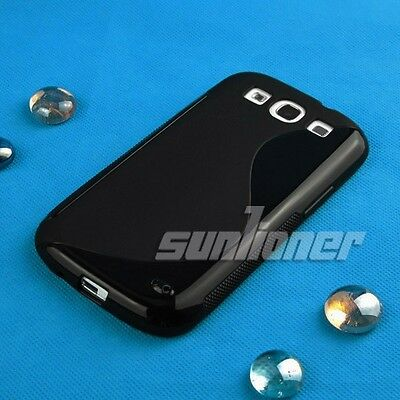 Black Gel TPU Case Cover For Samsung Galaxy S3, S III, SPH-L710