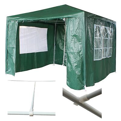 Waterproof Green 3m x 3m Outdoor Garden Gazebo Party Tent Marquee Awning Canopy