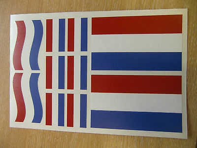 DUTCH FLAG STICKERS SHEET SIZE 21cm x 14cm - HOLLAND NETHERLANDS