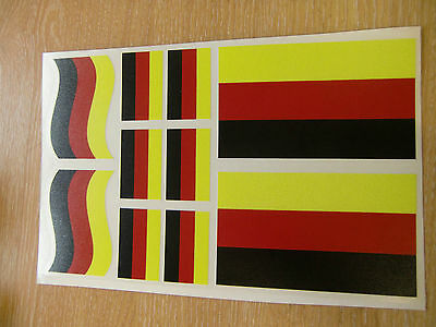 GERMAN FLAG STICKERS SHEET SIZE 21cm x 14cm - GERMANY DEUTSCHLAND FLAG DECAL