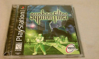 Syphon Filter  (Sony PlayStation 1, 1999) Original case and game