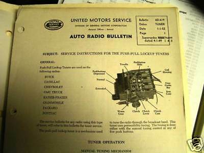 DELCO RADIO SERVICE INSTRUCTIONS   TUNERS  52-63