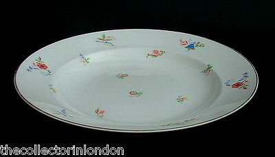 Vintage 1970's Rosenthal Stylized Floral Pattern Lg Rimmed Soup Pasta Plates 10""