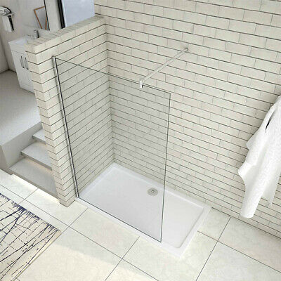 Bathroom Walk in Shower Enclosure 8mm Easyclean Glass Screen Cubicle Stone Tray