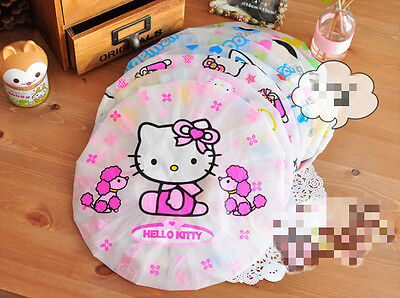 Cute pink red hello kitty shower cap bath kids women kawaii UK seller