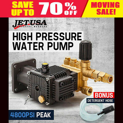 High Pressure Water Pump Replacement Jet-USA 4800 PSI Peak 8 HP Cleaner Upgrade