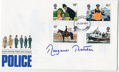 MARGARET THATCHER personally signed POLICE cover FDC