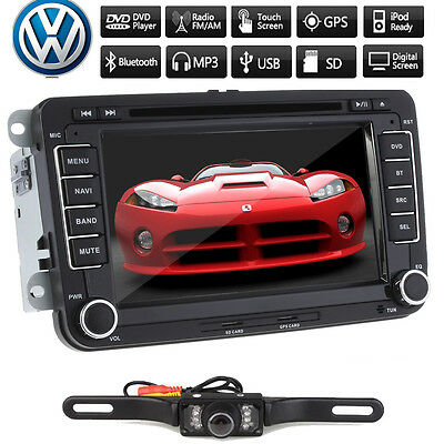 "TV/BT/iPOD/BACKUP CAMERA /GPS/ Bluetooth Sub 7""LCD Car Stereo DVD Player for VW"