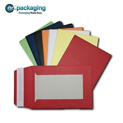 Coloured Hard Board Backed Envelopes A6 C6 A5 C5 A4 C4 Peel & Seal 120 / 550 GSM