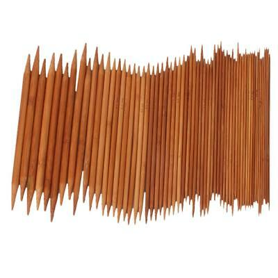 15 Sets/75pcs Bamboo Double Pointed Knitting Needles US 0-15 DIY Home Craft