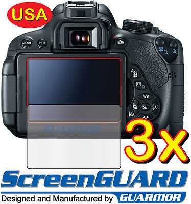 3x Clear LCD Screen Protector Guard Cover Film Canon Rebel EOS 60D / 600D T3i