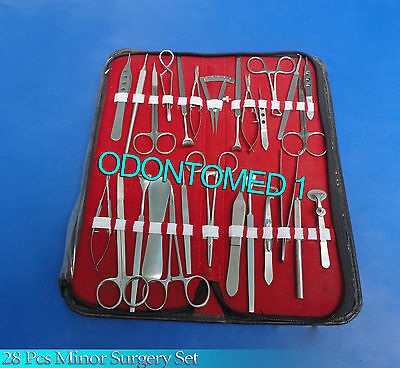 28 Pcs Eye Lid Micro Minor Surgery Ophthalmic Instruments Set In Pouch Ey-023