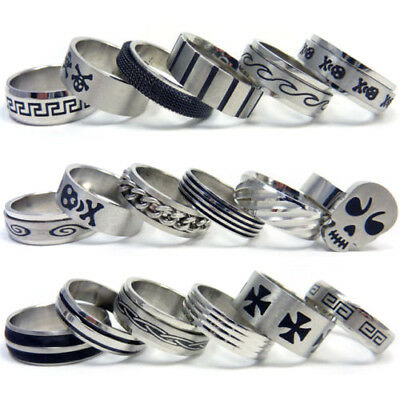 MENS STAINLESS STEEL JEWELLERY RINGS - Choose Your Style and Size