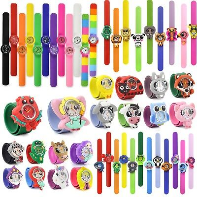 Kids child's children's POPWATCH SNAP ON ANIMAL SLAP WATCH Quartz Choose yours
