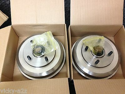 FORD FOCUS MK1 1998-2004 REAR BRAKE DRUMS FITTED WHEEL BEARINGS WITH HUB NUTS