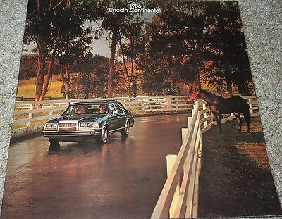 1986 Lincoln Continental and Givenchy Continental Sales Brochure - Mint!
