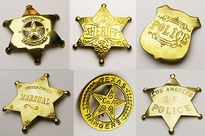 U.S. POLICE BRASS SHIELD - Old West Style Authentic Historical Replicas!