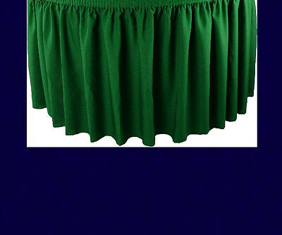 21' Navy Premium Flame Retardant Table Skirts - Fire Resistant Table Skirting