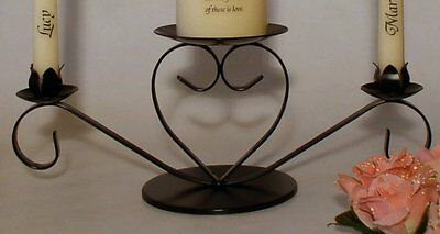 Heart Wedding Unity Candleholder - available in Black, Gold or Silver finish