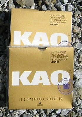 KAO 5 1/4 5.25 10 DSHD Disk Diskette Floppy NEW in GOLD Box