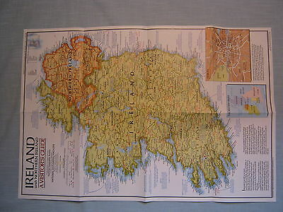 IRELAND AND NORTHERN IRELAND MAP+ HISTORIC IRELAND National Geographic Apr. 1981