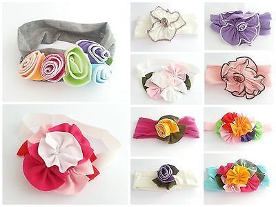 Baby Girls Soft Cotton Flower Headband Hairband Wedding Christening Party Gift