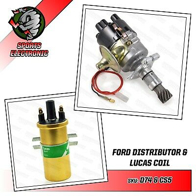 X Flow Distributor for Ford 1100 1300 1300GT 1600 & 1600GT Engines & Coil