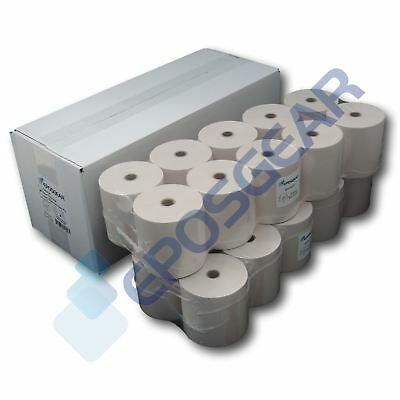 100 76mm x 76mm 76x76mm Single Ply Paper Till EPOS Kitchen Printer Receipt Rolls