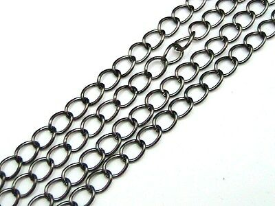 1 Metre Black Colour Chain 5mm x 3.5mm Links Jewellery Beading Findings J123
