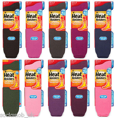 Heat Holders - Mens / Ladies Winter Warm Extra Long Thermal Socks, 6-11 / 4-8 UK
