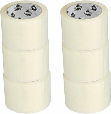 "12 Rolls 3/"" x 110 Yards Clear Hotmelt Tape 1.6 mil Box Shipping Packing Tapes"