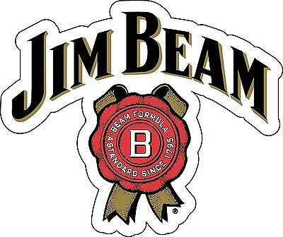 JIM BEAM Sticker Decal *DIFFERENT SIZES* Whiskey Bourbon Alcohol Bar Wall Vinyl