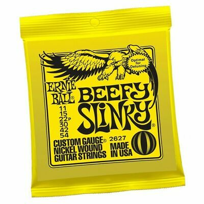 Ernie Ball 2627 Nickel Beefy Slinky Drop Tuning Electric Guitar Strings 11 - 54