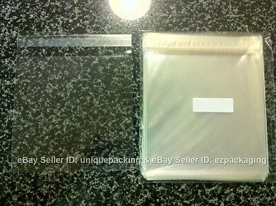 100 Pcs 6 7/16 x 6 1/4 (for 6x6 Card) Clear Resealable Cello Poly Sleeve Bags