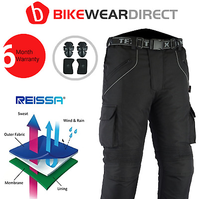 Motorbike Trousers With Armour Protective Biker Motorcycle Scooter Waterproof