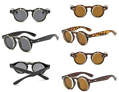 Steampunk glasses retro flip up sunglasses lady gaga vintage Keyhole New